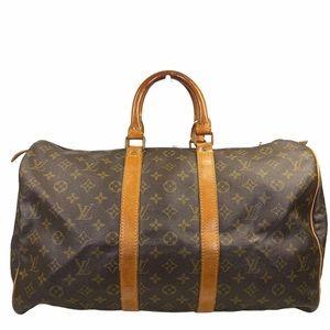 Louis Vuitton Travel bag Boston Keepall 45 Brown